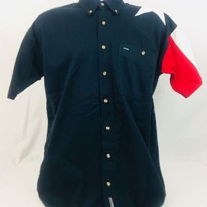Rock Point Mens Small Red White Blue Western Shirt